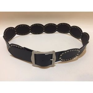 Anthropologie Studded Leather Waist Belt